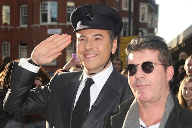 Simon Cowell and David Walliams at London Auditions of Britain's Got Talent