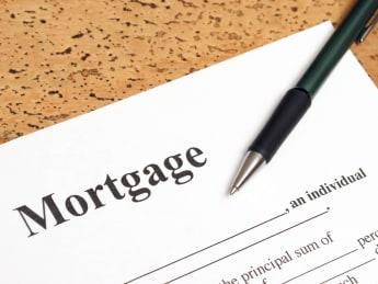 a closeup shot of mortgage...