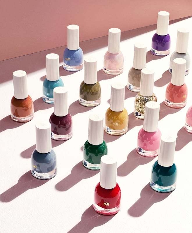 H&M fall beauty line makeup teaser nail polish