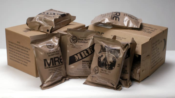 MRE meal bags and cases