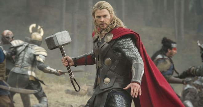 THOR: THE DARK WORLD 2013 Walt Disney Pictures film with Chris Hemsworth as Thor