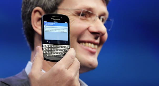 Thorsten Heins CEO blackberry Research in Motion Z10 smartphone