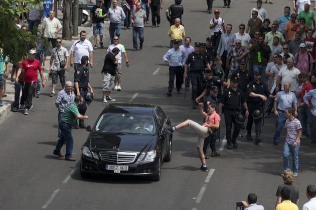 Spain Taxi Strike