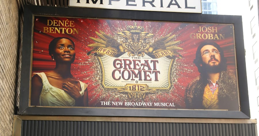 Theatre Marquee Unveiling For 'Natasha, Pierre & The Great Comet Of 1812'