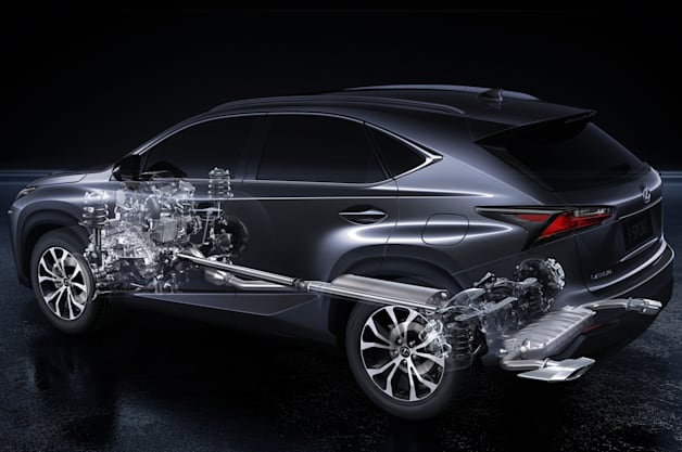 Lexus NX 200t cutaway