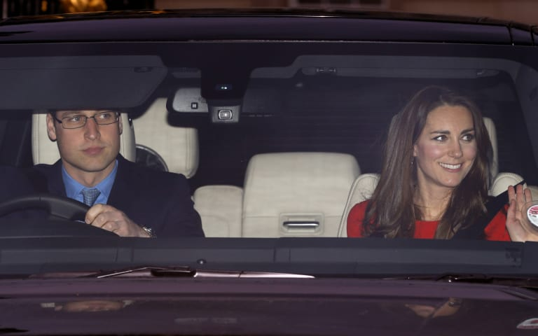 PHOTO: William and Kate take Prince George to family Christmas lunch