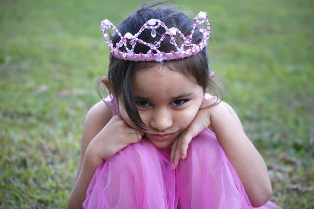Girl wearing pink