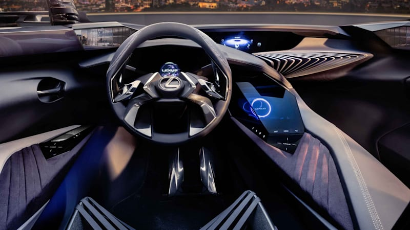 Forget LCD displays, the Lexus UX concept has hologram orbs - Autoblog