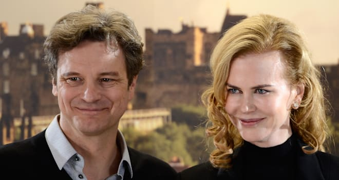 'Railway Man' Stars Colin Firth and Nicole Kidman in Edinburgh, Scotland, on April 27, 2012