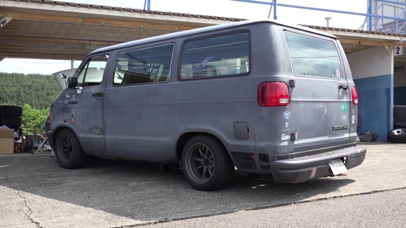 Old Dodge vans are big in Japan