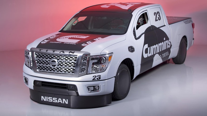 Nissan shows Titan XD diesel land speed truck at SEMA