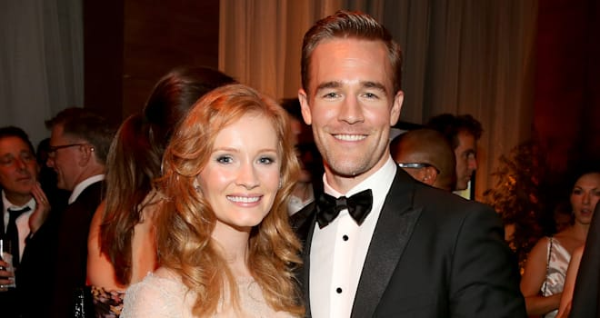 James and Kimberly Van Der Beek at a Post-Emmy Awards 2012 Party