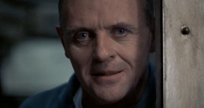 "anthony hopkins as hannibal lecter in ""the silence of the lambs"""