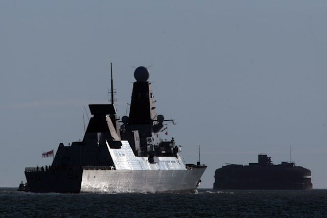 The Royal Navy Destroyer HMS Daring Sets Sail On Its Maiden Deployment