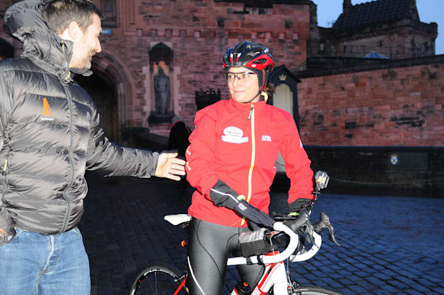 Davina McCall Sets Off On Her BT Sport Relief Challenge