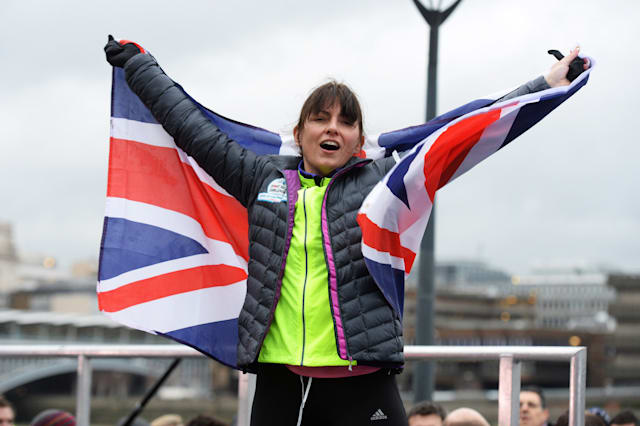 Davina McCall Completes Her BT Sports Relief Challenge