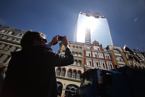 Glare From Walkie-Talkie Building In London Melts Property And Vehicles