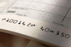 close up of cheque book  focus...