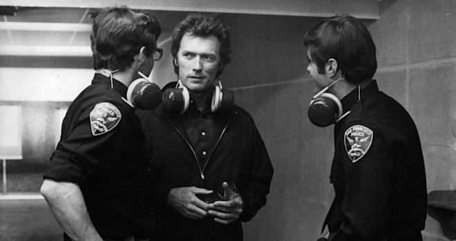 Clint Eastwood on the 'Magnum Force' Set in 1973
