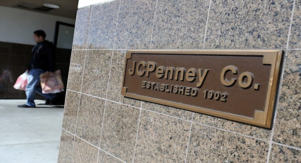 SAN BRUNO, CA - FEBRUARY 28:  A customer leaves a JCPenney store on February 28, 2013 in San Bruno, California.  J.C. Penney Co. reported a 31.7 percent drop in fourth quarter earnings with a net loss of $552 million, or $2.51 per share compared with a loss of $87 million, or $0.41 one year ago. (Photo by Justin Sullivan/Getty Images)