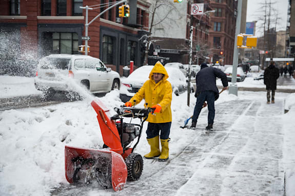 New York City Hit With More Snow
