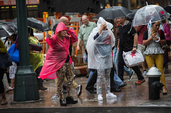 Severe Thunderstorms Affect New York City