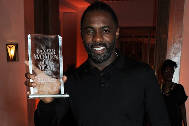 Idris Elba, winner of the Man of the Year award, attends the Harper's Bazaar Women of the Year awards