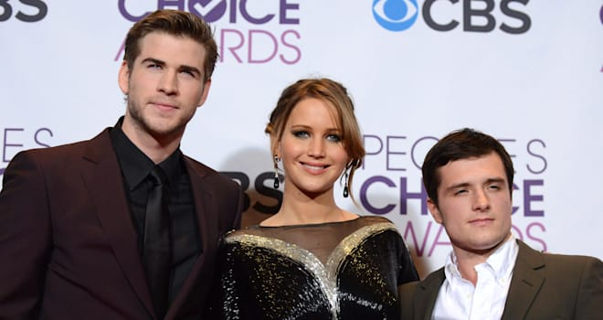 Peoples Choice Awards Press Room (From left, Liam Hemsworth, Jennifer Lawrence and Josh Hutcherson, winners of the award for bes
