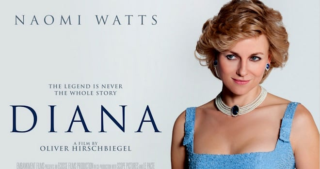 DIANA   Poster for 2013 Entertainment One film with Naomi Watts