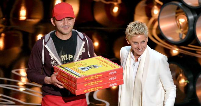 ellen oscars pizza tip