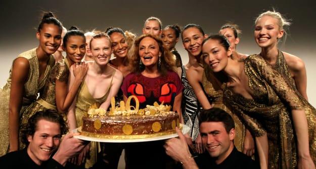 WATCH: Diane von Furstenberg celebrates 40 years of the wrap dress