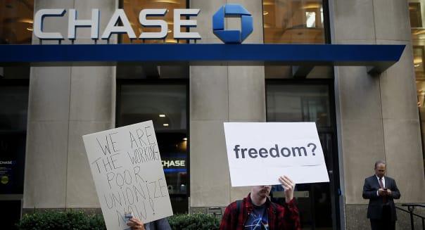 Protestors Mark Anniversary Of Occupy Wall Street Movements