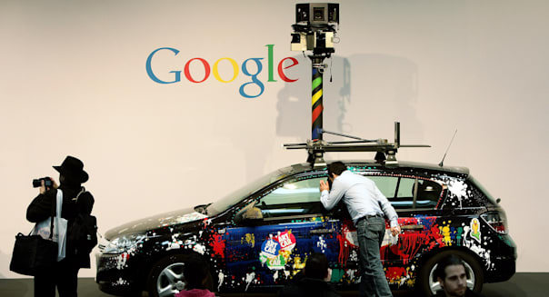German Google Street View car CeBIT Technology Fair