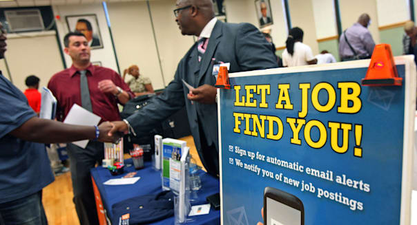 Inside A Job Fair As Weekly Jobless Figures Are Released