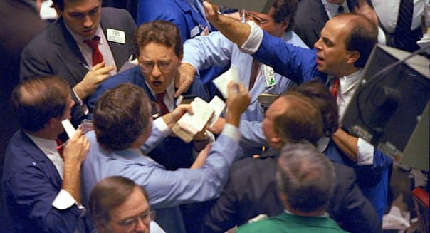 NYSE ARCHIPELAGO HISTORY (** FILE **Traders on the floor of the New York Stock Exchange work frantically as panic selling swept