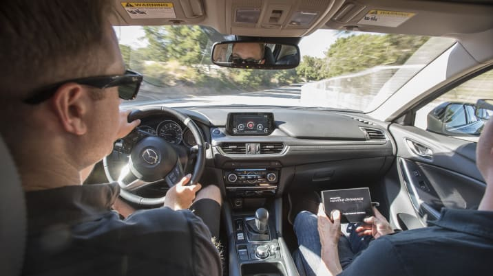 Mazda G-Vectoring Control demonstration