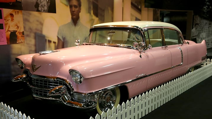 Elvis Presley's Pink Cadillac Join The O2 Exhibition