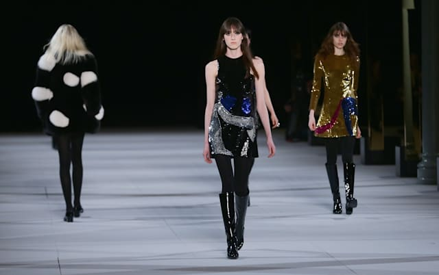 Saint Laurent : Runway - Paris Fashion Week Womenswear Fall/Winter 2014-2015