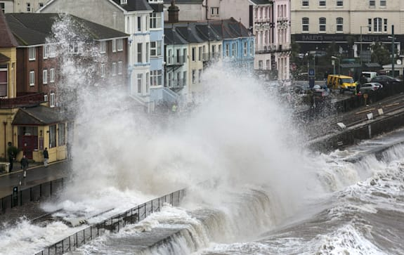 Storms Hit South West Of The UK
