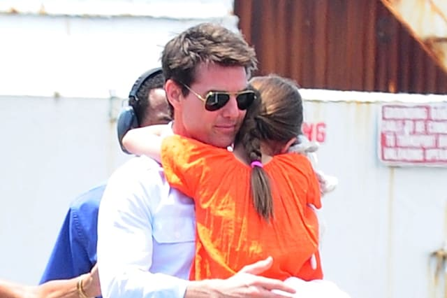 Tom Cruise, Katie Holmes & Suri Sightings In New York City - July 18, 2012