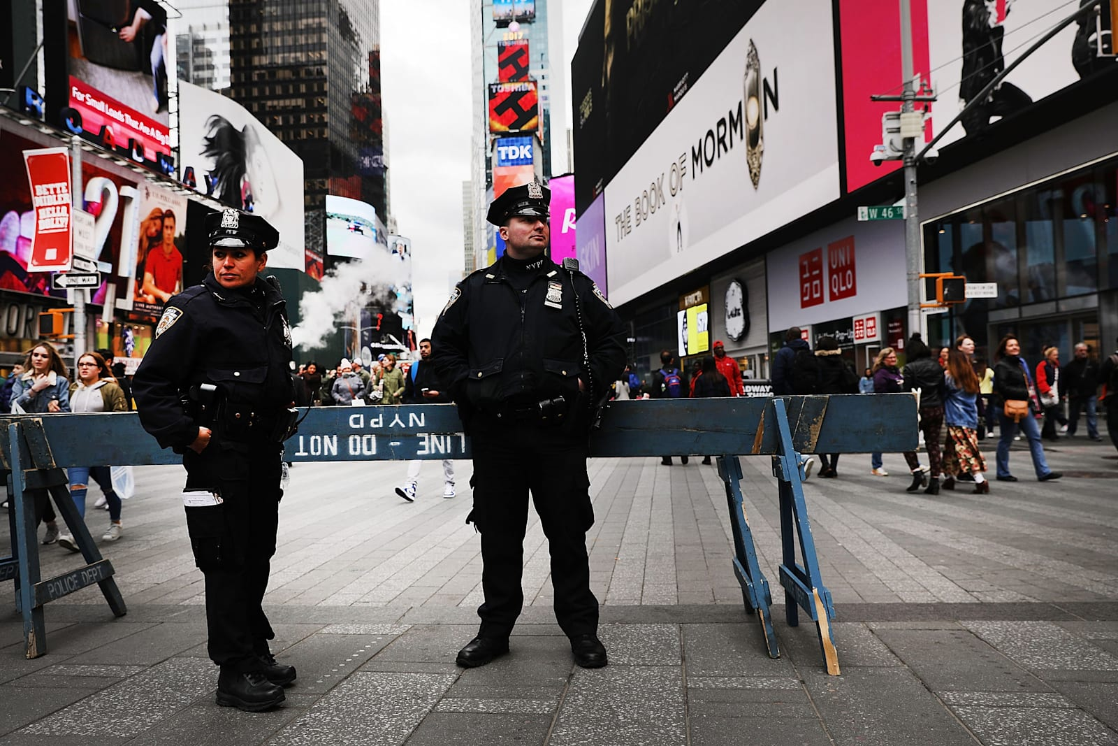 new-york-city-police-keep-a-presence-in-times-square-following-the-picture-id665881534