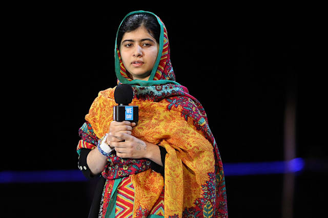 Malala We Day UK Wembley Arena In London