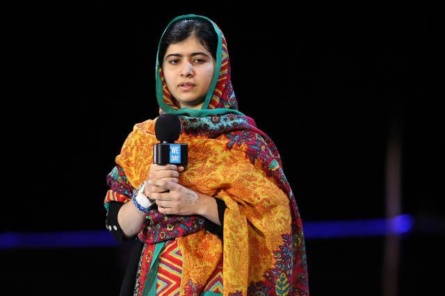 Malala We Day UK Wembley Arena In London