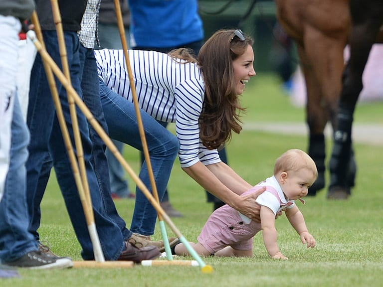 See Prince George on two feet! Too cute on Father's Day