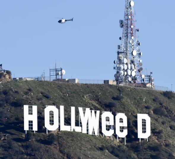 """USA: L'homme qui avait détourné  HOLLYWOOD en """"Hollyweed"""" arrêté...Explication!"""