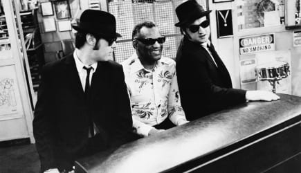 Movies by Name The Blues Brothers (Jake and Elwood Blues (Dan Aykroyd and John Belushi) bargain with music store owner  Ray Char