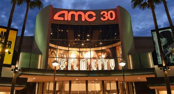 AMC cinemas at the Block in Orange, California.