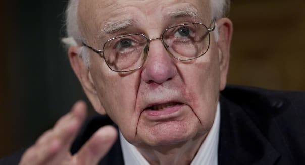 Former Fed Chairman Paul Volcker At Senate Banking Hearing