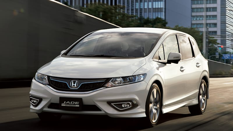 Honda rolls out six-seat Jade Hybrid wagon in Japan