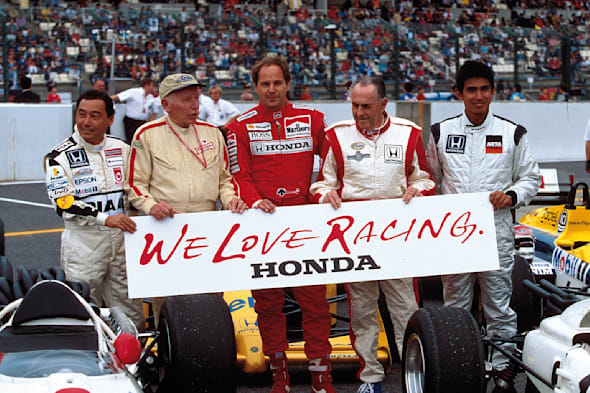 Formula One Japanese Grand PrixSuzuka, Japan6th-8th October 2000PriorityPast Honda drivers.LAT World copyright �